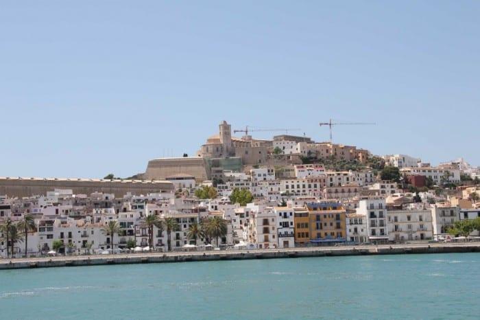 Vista do centro histórico de Ibiza