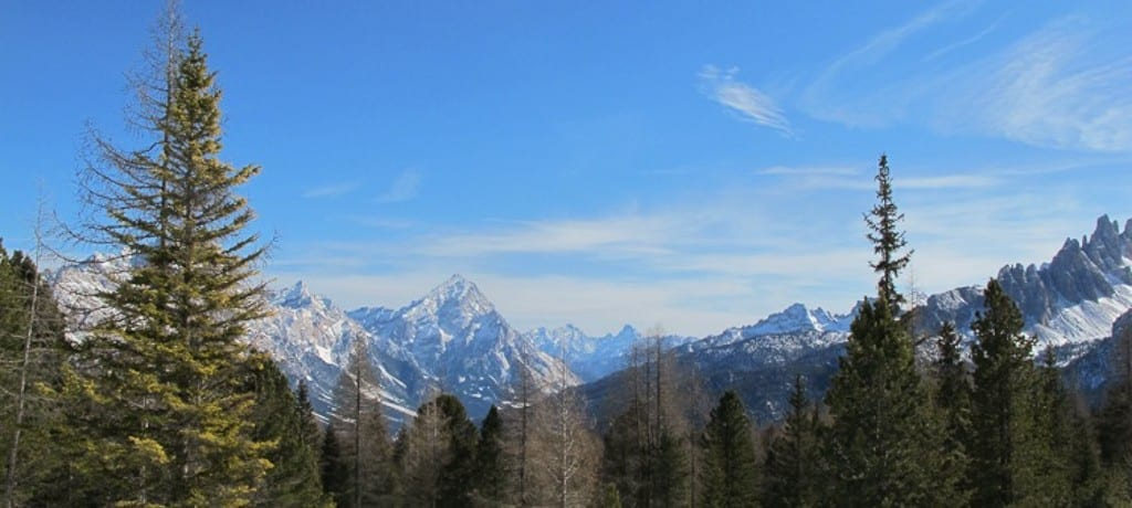 Curtindo ao máximo Cortina D'Ampezzo nas Dolomitas