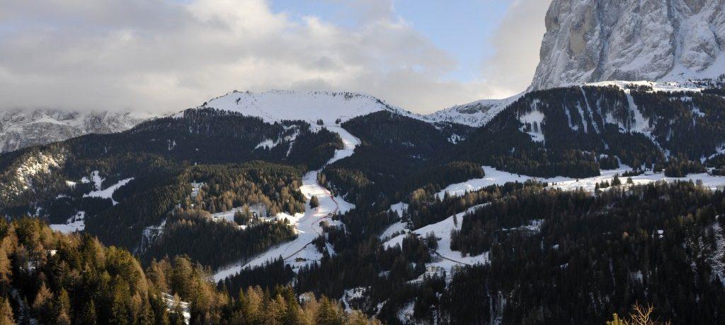 As melhores pistas nas montanhas Dolomitas