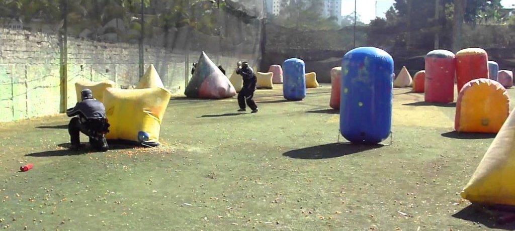 Paintball com os amigos