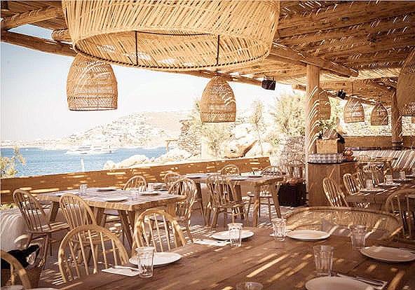 melhores beach clubs em mykonos scorpios restaurante