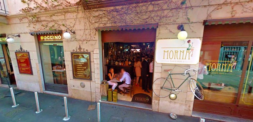 jantar em Milão boccino morna