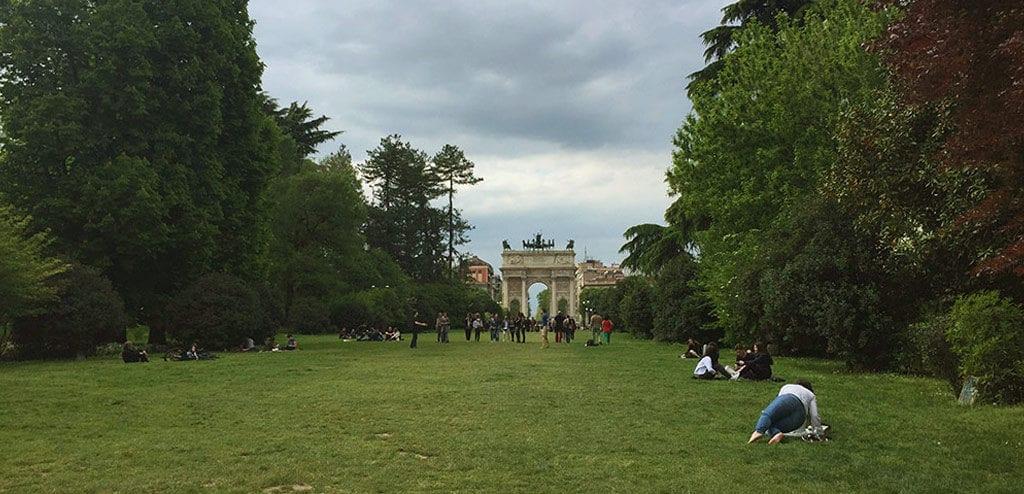 Um dia em Milão parco sempione