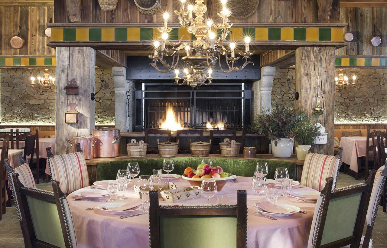 Restaurantes na pista em Courchevel chalet de pierre