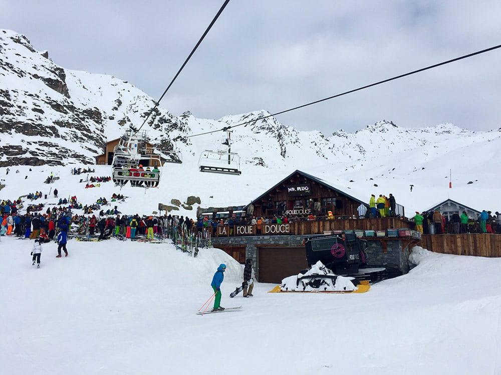 Après-ski e restaurantes em Courchevel la folie douce meribel