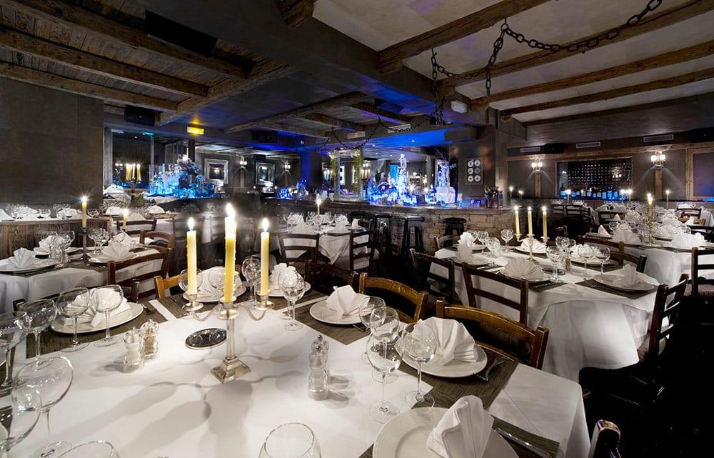 Après-ski e restaurantes em Courchevel la mangeoire