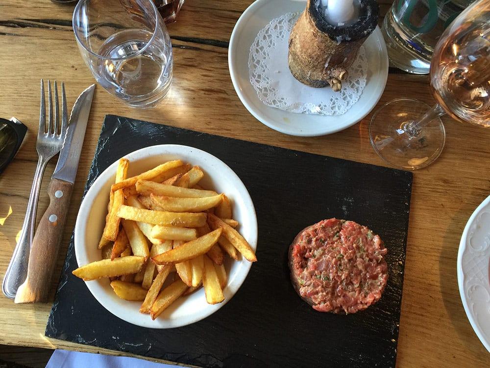 Restaurantes na pista em Courchevel la soucoupe