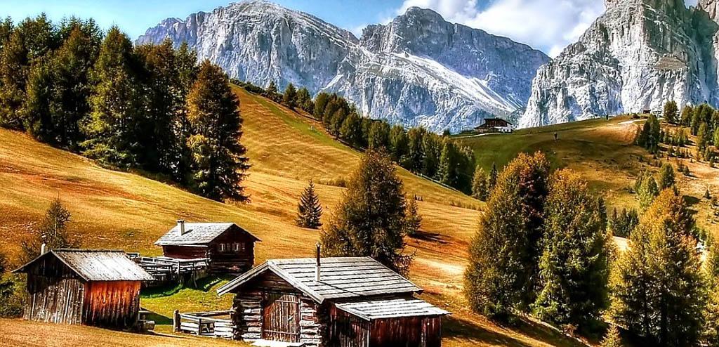 restaurantes nas montanhas Dolomitas