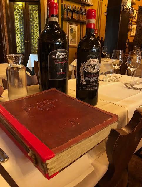 Antica Bottega del vino - menu de vinhos